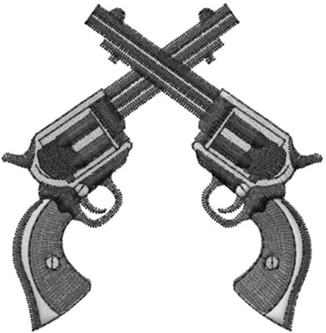 crossed pistols embroidery designs machine embroidery