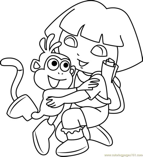 printable coloring pages monkey quest 93 dora coloring book pdf princess dora printable
