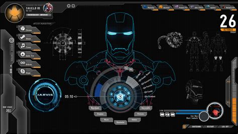 jarvis theme for windows 7 rainmeter shield iron man theme for windows 10 8 7