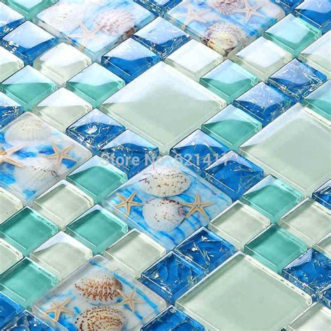 sea glass mosaic tile bathroom aliexpress com buy new blue color crystal glass mixed