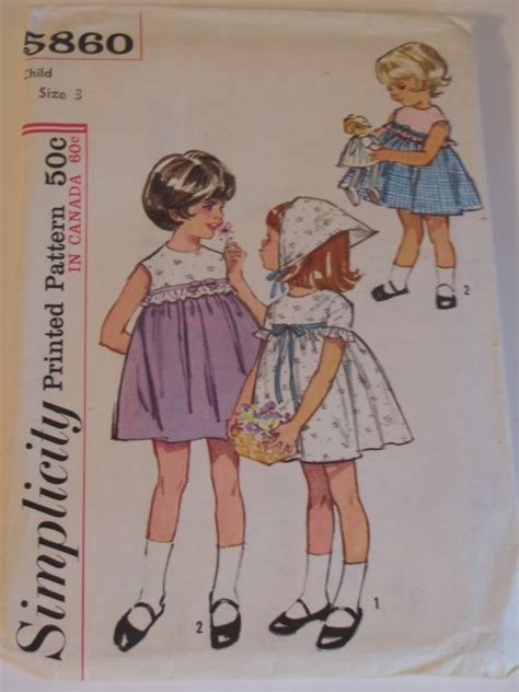 vintage pattern girl vintage 1964 little girl baby doll dress pattern