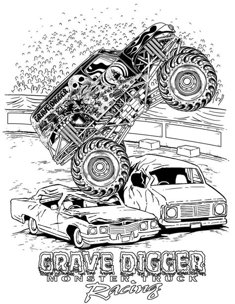 childrens monster truck videos monster truck coloring pages letscoloringpages com grave