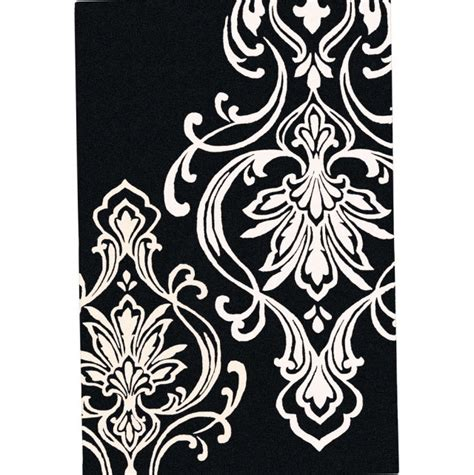 Damask Area Rug Black And White by White Damask Rug Rugs Ideas