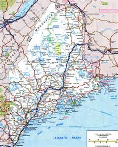 Map Of The State Of Maine by Large Detailed Roads And Highways Map Of Maine With All