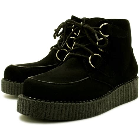 Platform Shoes by Buy Cora Flat Creeper Platform Shoes Black
