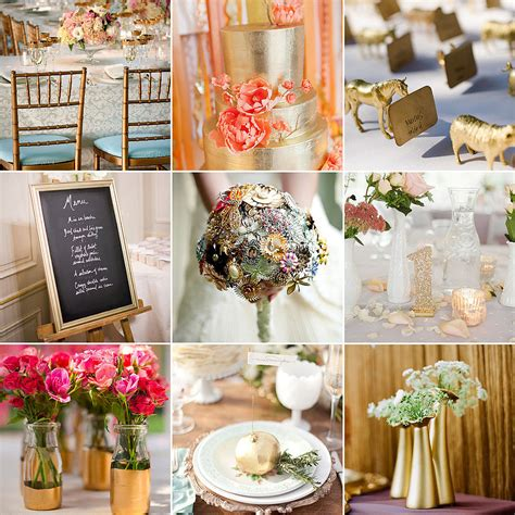 home decoration for wedding gold wedding decor ideas popsugar home