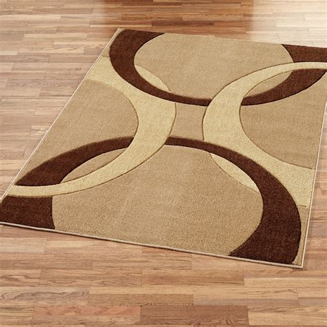 Corfu Contemporary Brown Area Rugs Area Rug