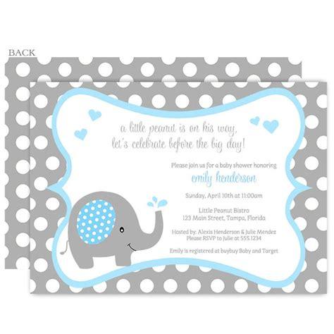Baby Shower Invitations Elephant by Polka Dot Elephant Aqua Baby Shower Invitation Boy Baby