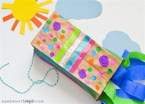 Paper Bag Kite Craft - paper bag kites a craft for somewhat simple
