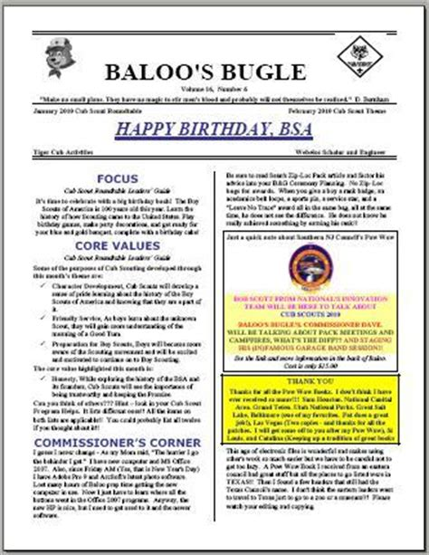 Halfeagle Com Scouting Blogs And News Archived Posts From December 2009 Boy Scout Troop Newsletter Template