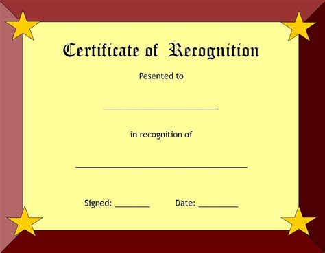 free printable award template a collection of free certificate borders and templates