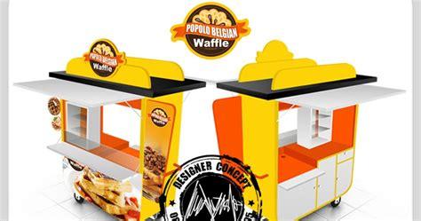 desain gerobak waffle desain logo logo kuliner desain gerobak jasa desain