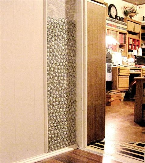 Decoupage Wall - using glass pebbles as wall decor clipboards decoupage