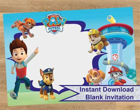 Paw Patrol Birthday Invites Paw Patrol Birthday Invites Together With A Picturesque View Of Your Paw Patrol Birthday Invitation Template