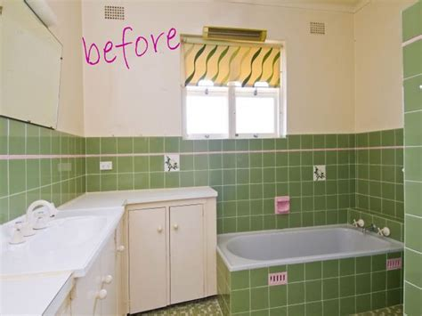 Painting Tiles In Bathroom Before And After painting bathroom tile for the home