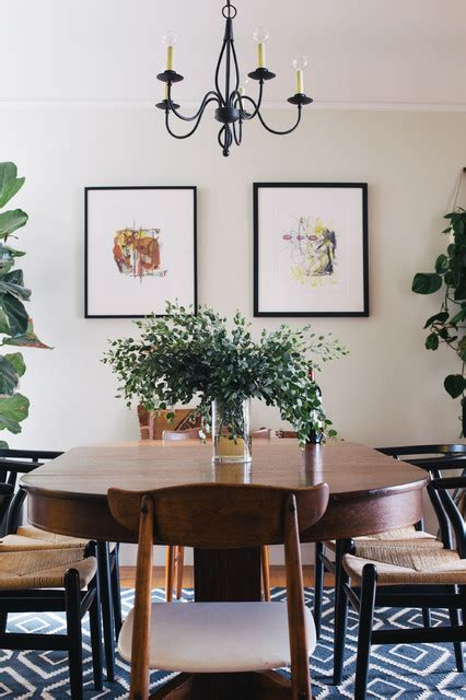Houzz Eclectic Dining Room My Houzz Family Home Stays True To Style Eclectic