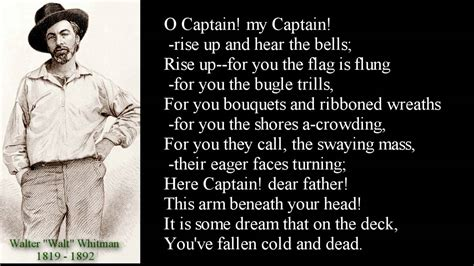 O Captain My Captain Essay by Walt Whitman Poem O Captain My Captain