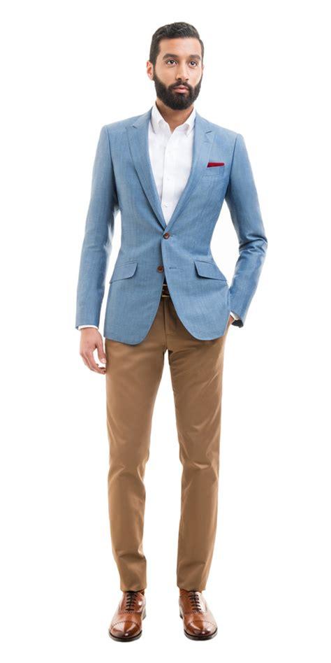 light blue sports jacket light blue linen blend custom blazer linen blazer light