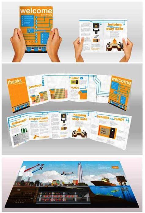contoh desain brosur unik contoh brosur dengan desain layout unik
