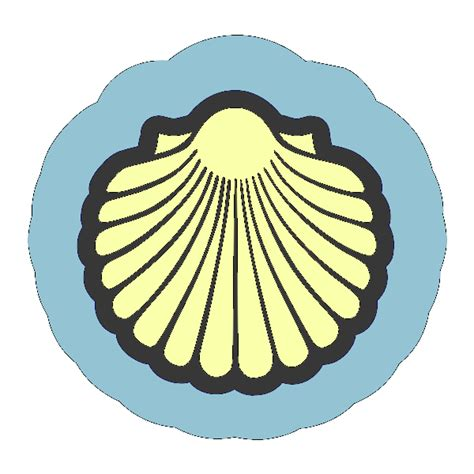 shell clipart scallop shell outline