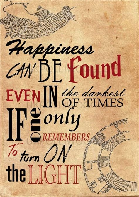 Quote Poster 2 Original harry potter quote poster quote albus dumbledore happiness can be found even in the