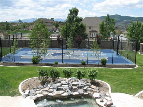 backyard basketball courts 17 best images about sports courts on pinterest chain