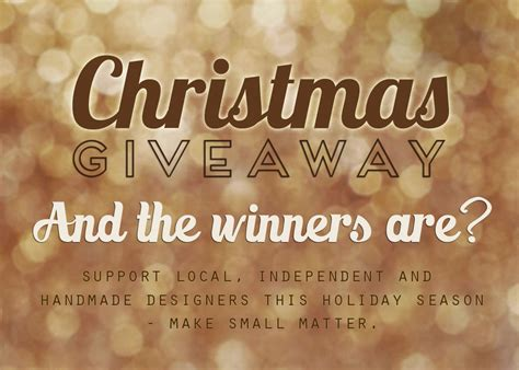 Free Christmas Giveaways 2012 - christmas giveaway winner