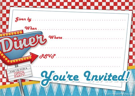 free vintage invitation templates retro and vintage printable kits