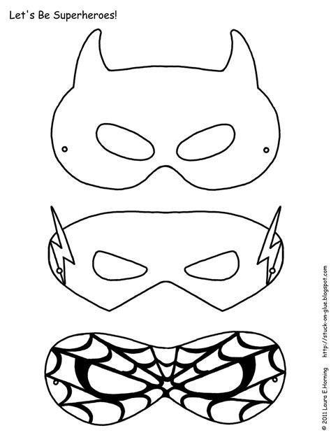 printable heroes mask superhero activities free superhero masks to color