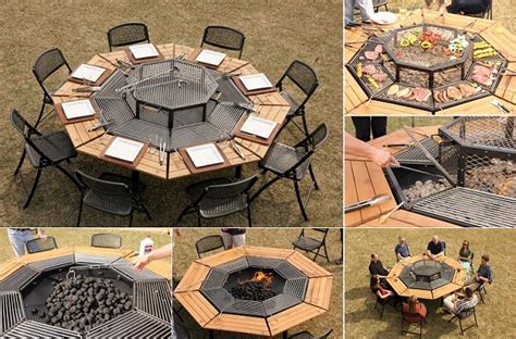 Wonderful Diy Patio Table With Built In Wine Cooler - wonderful jag grill 3 in 1 bbq table