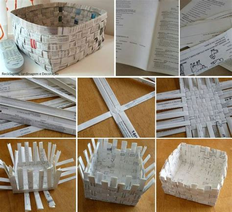 Craft Paper Basket - diy paper basket diy things and object