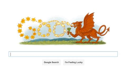 doodle name dewi st david s day celebrated with doodle featuring a