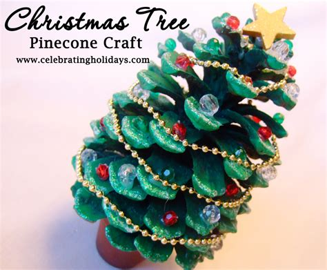 pine cone tree pinecone tree craft celebrating holidays