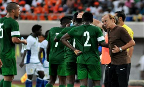 2019 afcon qualifier eagles coach gernot rohr