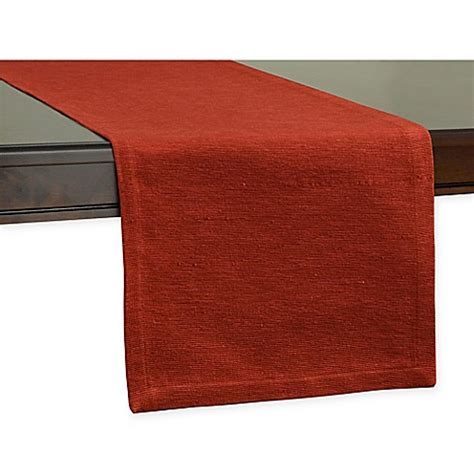 bed bath and beyond table runners uptown solid table runner bed bath beyond