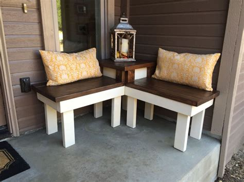 corner patio bench hometalk diy refurbish makeover furniture