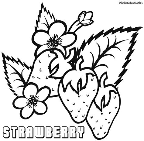 strawberry coloring pages coloring pages to download and