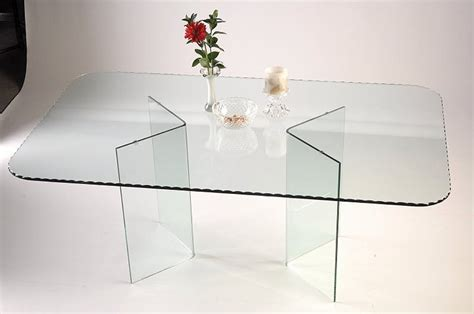 All Glass Dining Table V Shape All Glass Dining Table Base Set