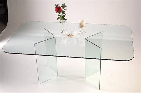Pedestal Dining Room Set by V Shape All Glass Dining Table Base Set