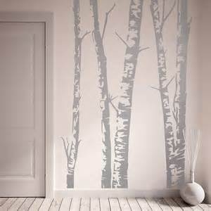 Birch Tree Wall Stickers Silver Birch Trees Vinyl Wall Sticker Vinyls Be Cool