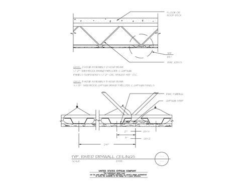 gypsum ceiling section detail usg design studio drywall suspension system ceilings