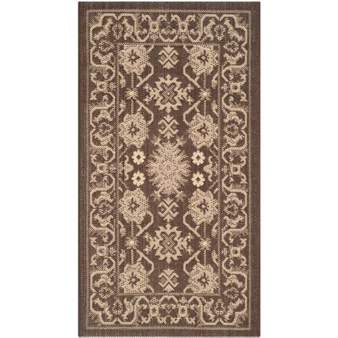 3 foot area rugs safavieh courtyard chocolate 2 ft x 3 ft 7 in indoor outdoor area rug cy6727 204 2
