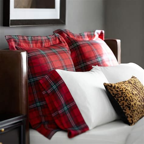 red bedding tartan bedding red williams sonoma