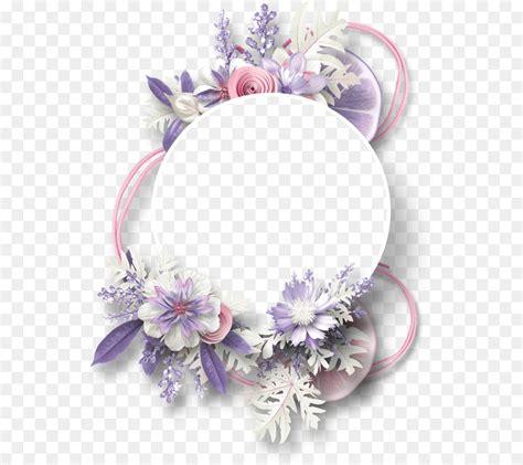 border flowers wedding invitation picture frames pastel
