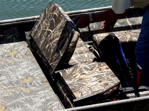 camo boat bench seat bench seat with box storage war eagle boats