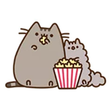 pusheen eats sticker  emojis gif stickers