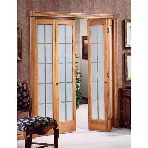 American Wood Mission Frosted Bi Fold Door 24x80 5 Folding Interior Glass Doors