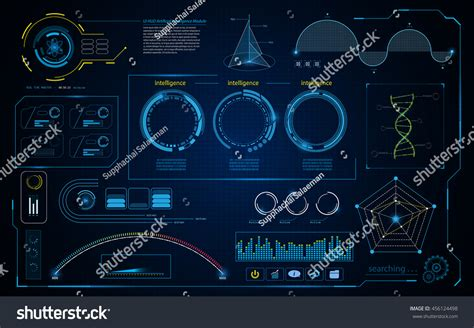 abstract interface pattern abstract hud intelligence interface data computing stock