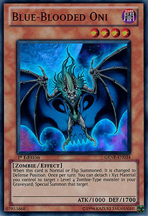 Kartu Yugioh Blue Blooded Oni Blue Blooded Oni Generation Boosterserien