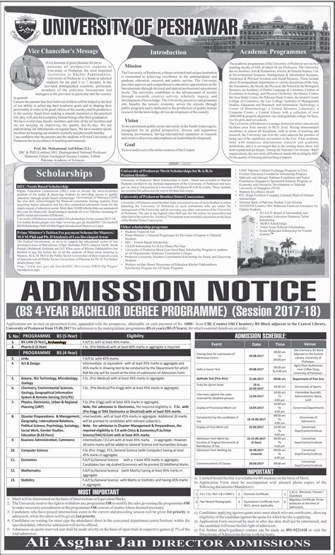 Peshawar Mba Admission 2017 by Admissions Open In Of Peshawar 18 Aug 2017